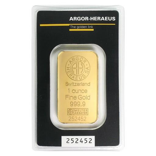 Investicijsko zlato - Argor Heraeus Good delivery - V&D Zlato
